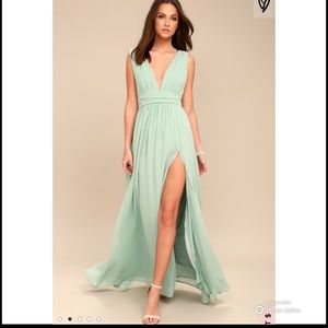 Lulus Heavenly Hues Mint Green Maxi Dress